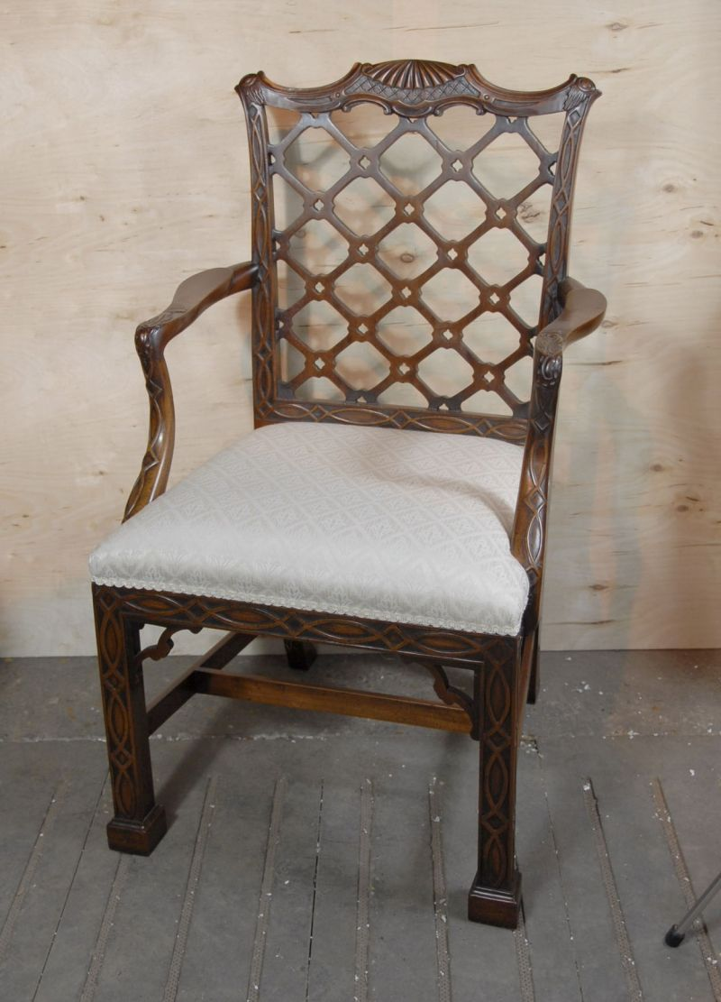 Meubles Furniture Ireland 8 Chinese Chippendale Chairs Period Antique English Chinese