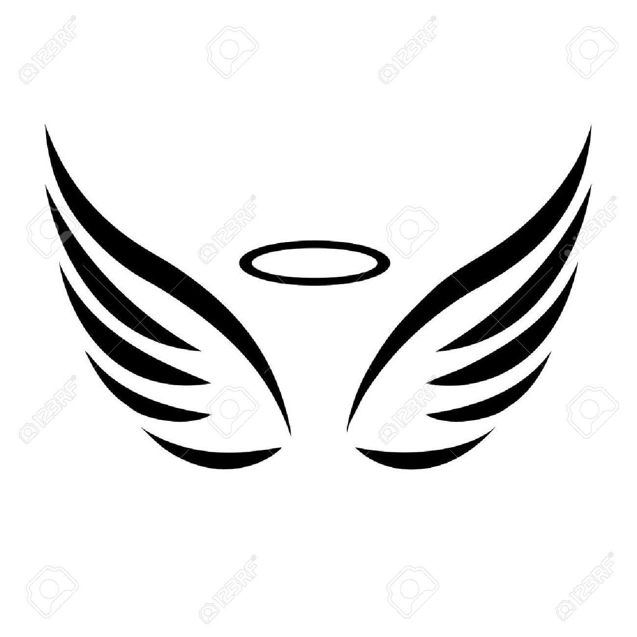 Aile d ange dessin banque d 39 images vecteurs et - Dessin d ange gardien ...