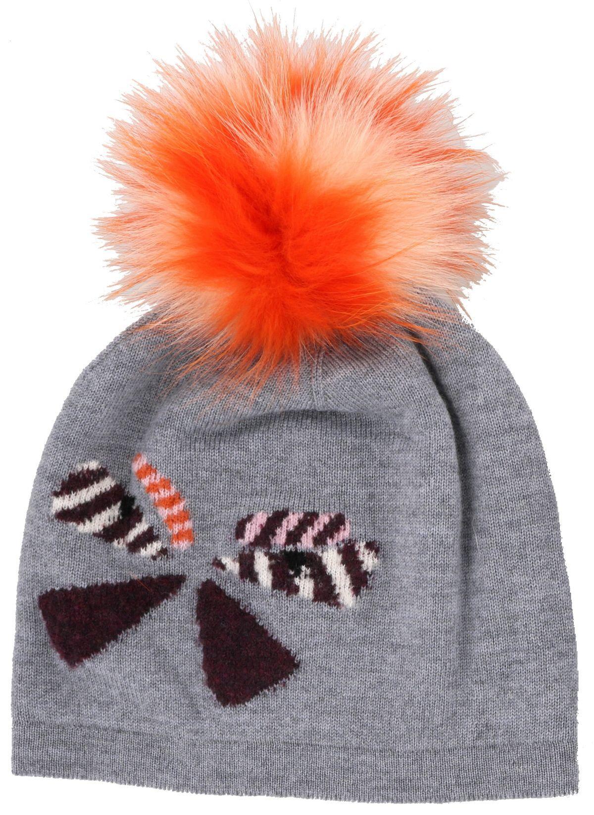 d8623f6a7c8 ... Butterflyeye fur pompom wool beanie hat grey fendi pinterest jpg  1200x1646 Fendi red hat best online ...