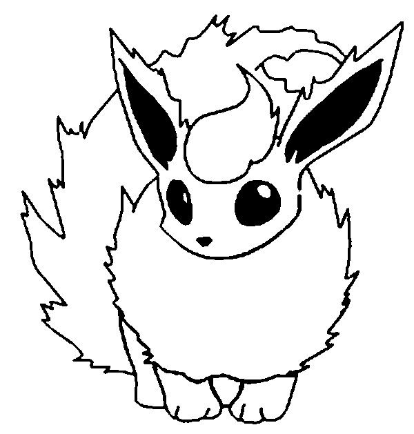 Pokemon flareon coloring pages mamas pinterest for Flareon coloring page