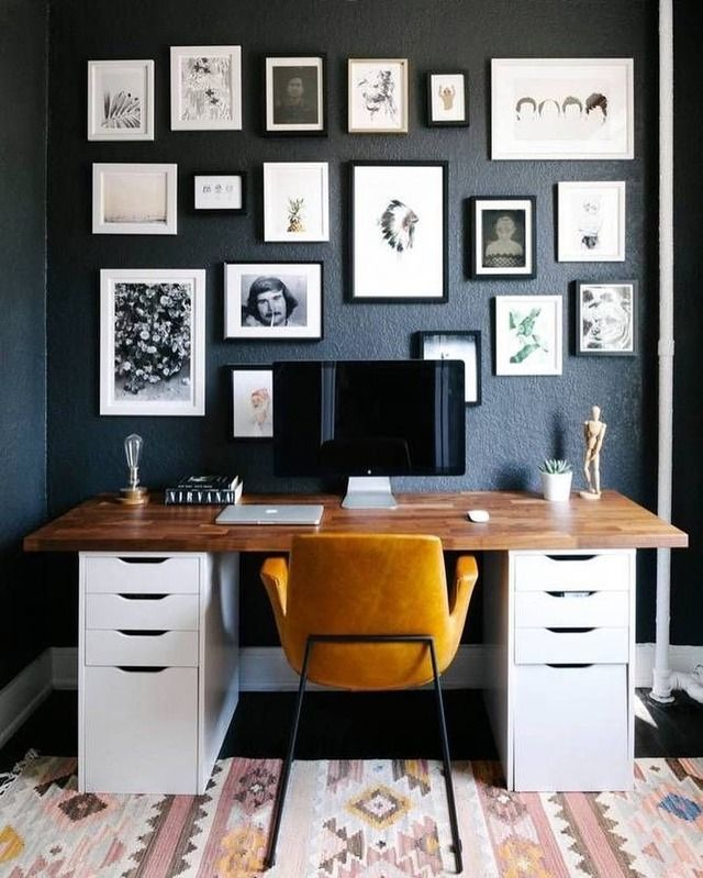 Home office decor inspiration. Are you looking for unique and beautiful art photos (not the ones featured in this pin) to create your gallery walls? Visit bx3foto.etsy.com and follow us on Instagram @bx3foto