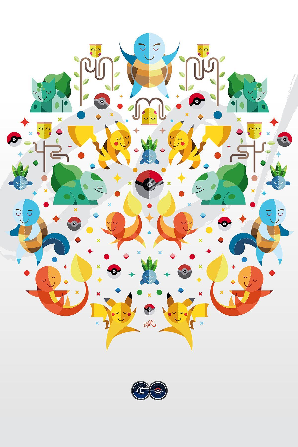 Pokémon GO! on Behance Poster design, Illustration