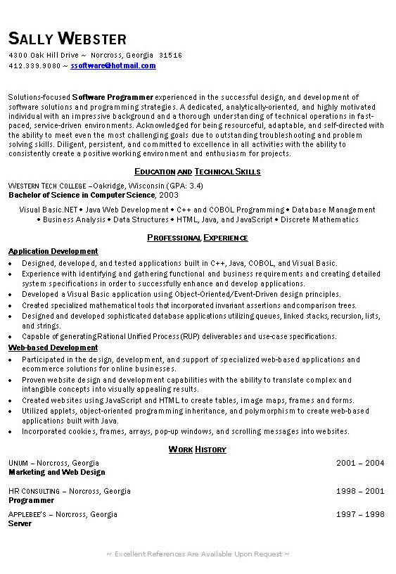 extended leave resume sample