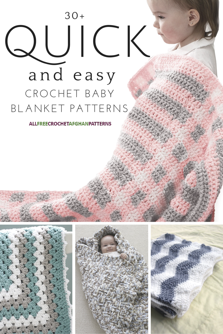 40+ Quick and Easy Crochet Baby Blanket Patterns | Manta, Tejido y ...