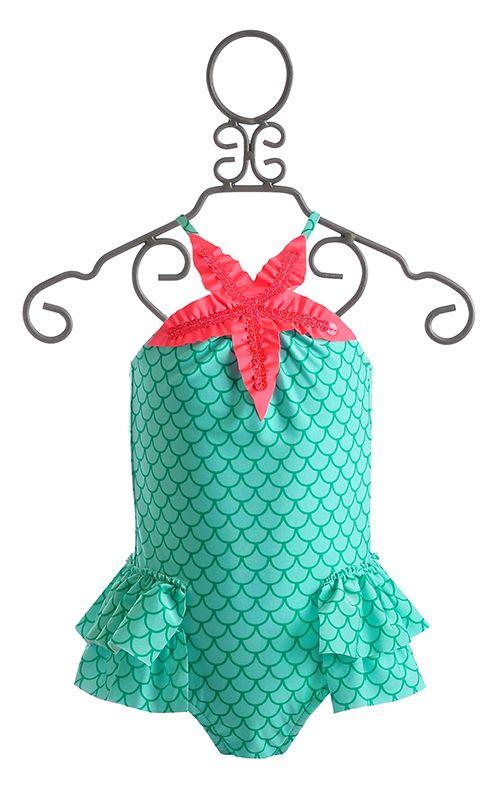 39d167241a4d5 Love U Lots Mermaid Girls Swimsuit $37.00 How cute!!!! | The Baby ...