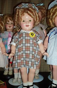 Antique 1930's Composition Shirley Temple Doll