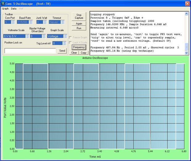 Arduino High Speed Oscilloscope With PC Interface | Arduino