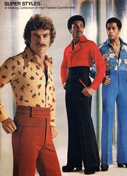 3cd75abe85 devilduck: 1970s High Fashion Coordinates: polyester, platform shoes, high  waists, bell bottoms, giant collars, floral pattern, sideburns, exposed  chest ...