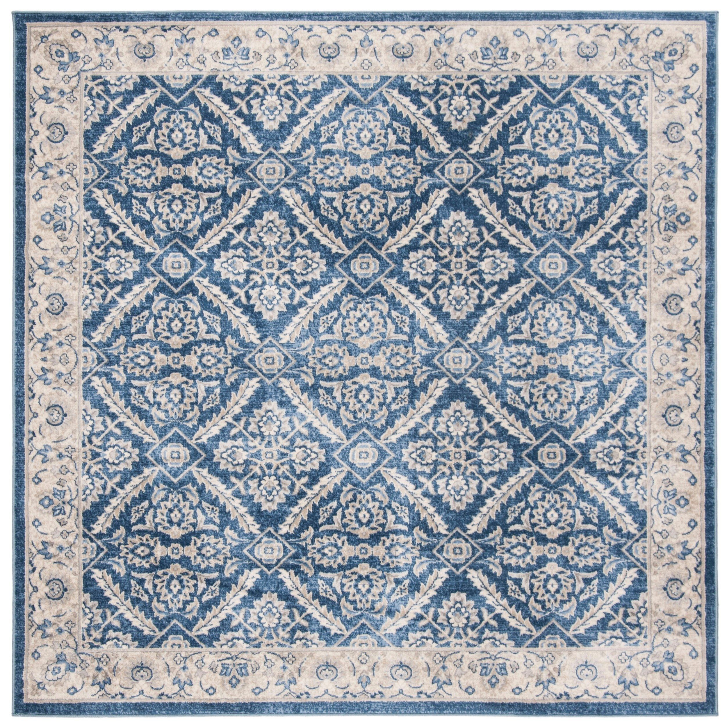 Safavieh Brentwood Vivien Navy Cream Rug 6 7 X 6 7 Square 6 7 X 6 7 Square Navy Creme Blue P With Images Floral Medallion Rug Area Rugs Country Area Rugs