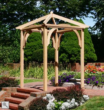My dad is making us this arbor for the ceremony