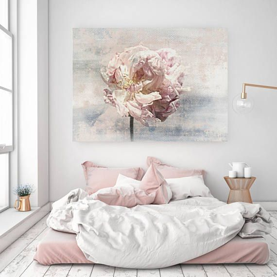 Shabby Chic Floral Canvas Wall Art Peony Canvas Wall Art Shabby Chic Flower Pink Peony Print Peony Wall Art Print Shabby Chic Art