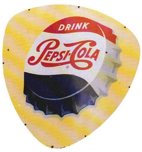 Pepsi Cola Cap Porcelain Sign Porcelain Signs Porcelain Signs Pepsi Cola Pepsi