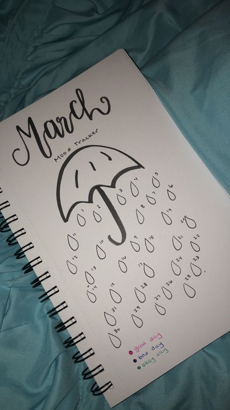 Photo of March mood tracker