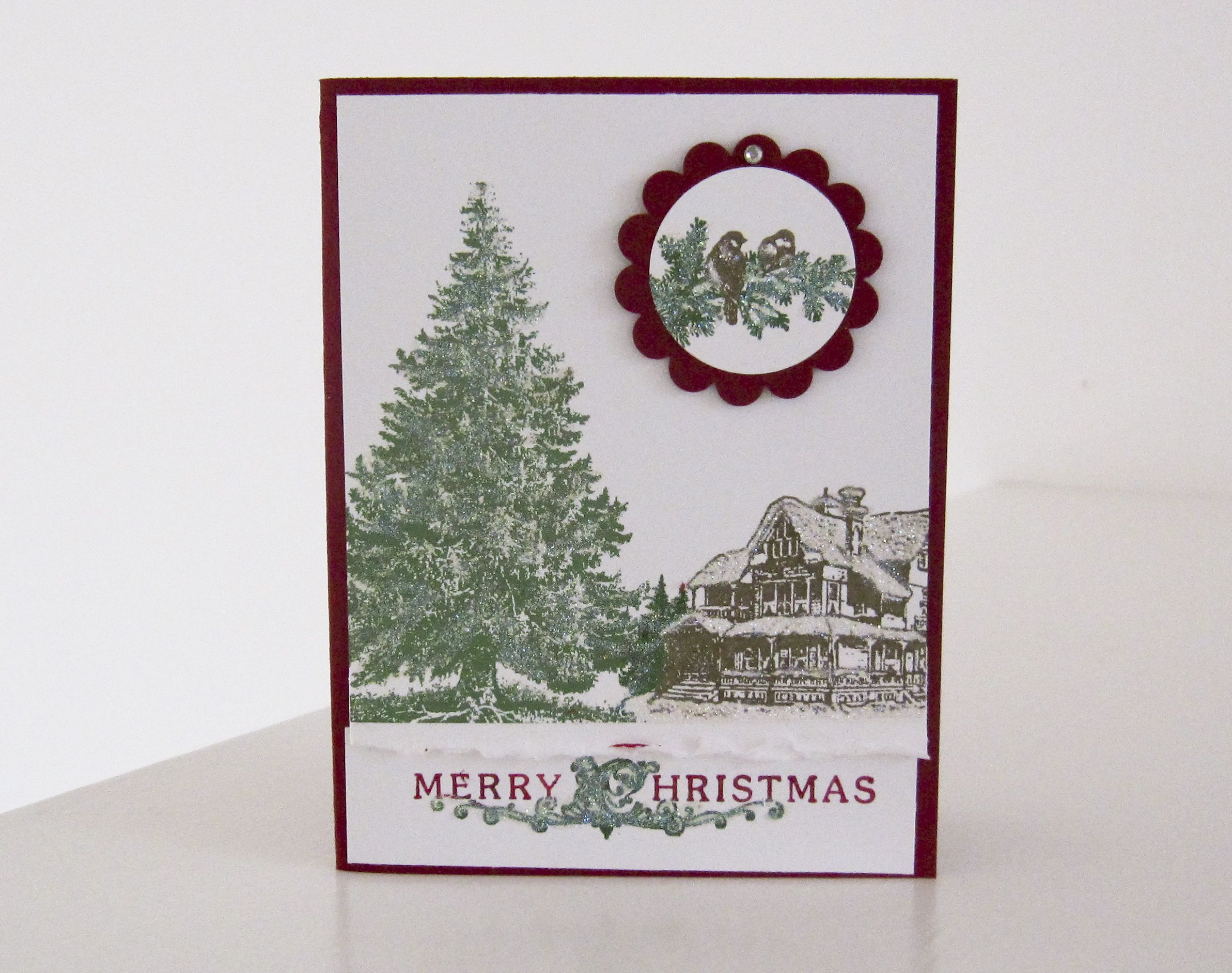 Stampin Up Christmas Lodge photo | Christmas card ideas | Pinterest