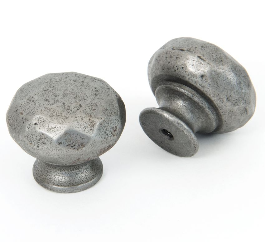 Elegant Black Hammered Cabinet Knobs