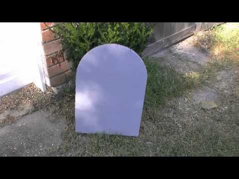 How to make inexpensive Headstones for Halloween - YouTube - how to make halloween decorations youtube