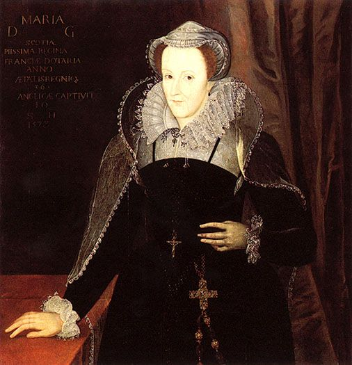 1578 Mary Stuart after Nicholas Hilliard (National Portrait Gallery, London) | Grand Ladies | gogm