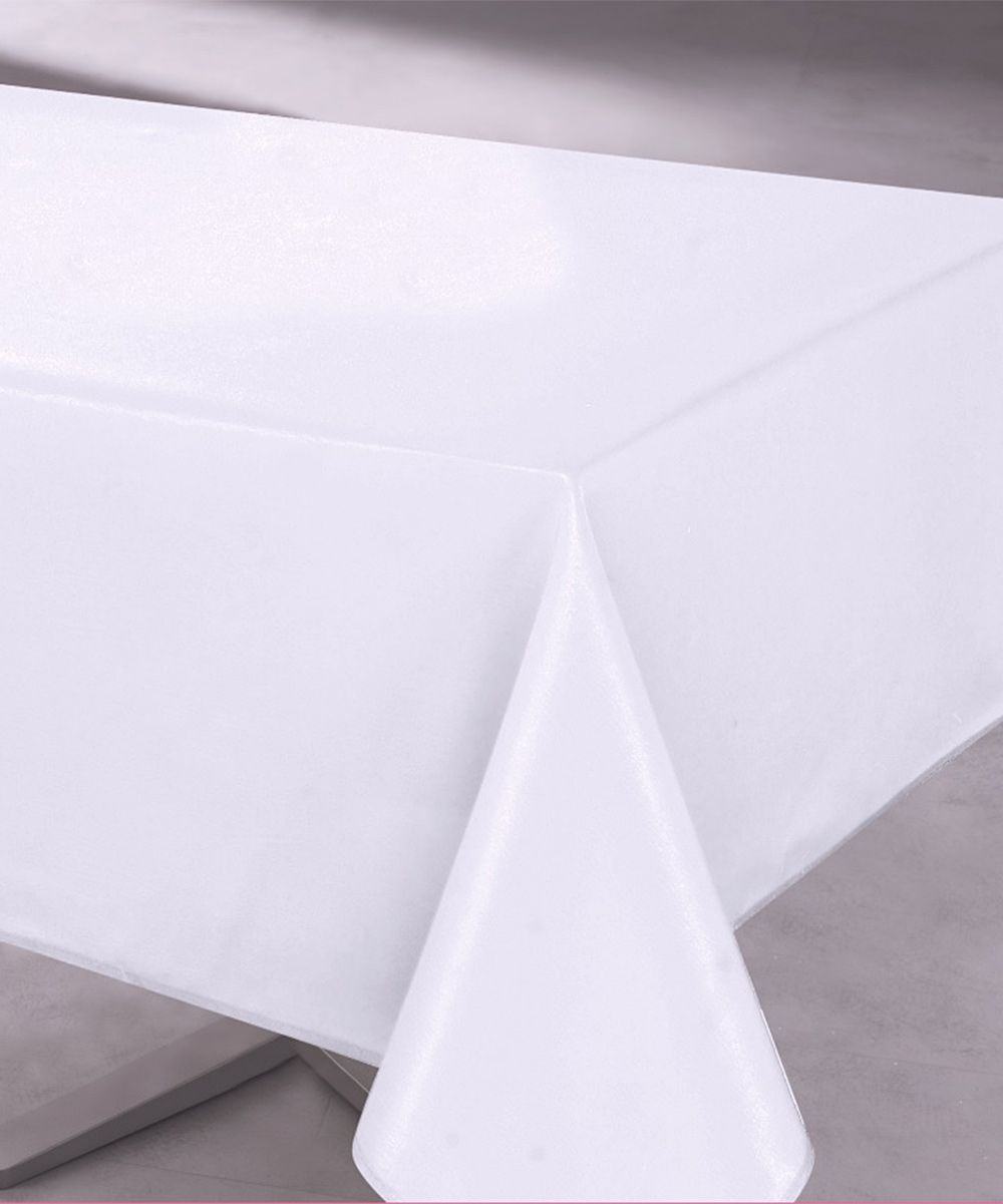 Classic White Easy Care Tablecloth