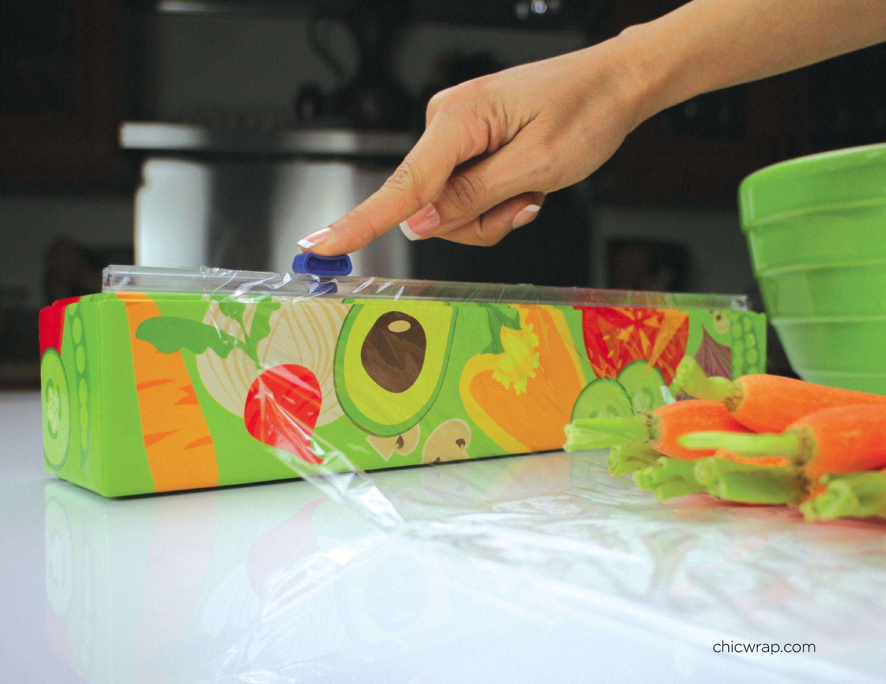 ChicWrap Veggies is a nice reminder to protect your veggies.