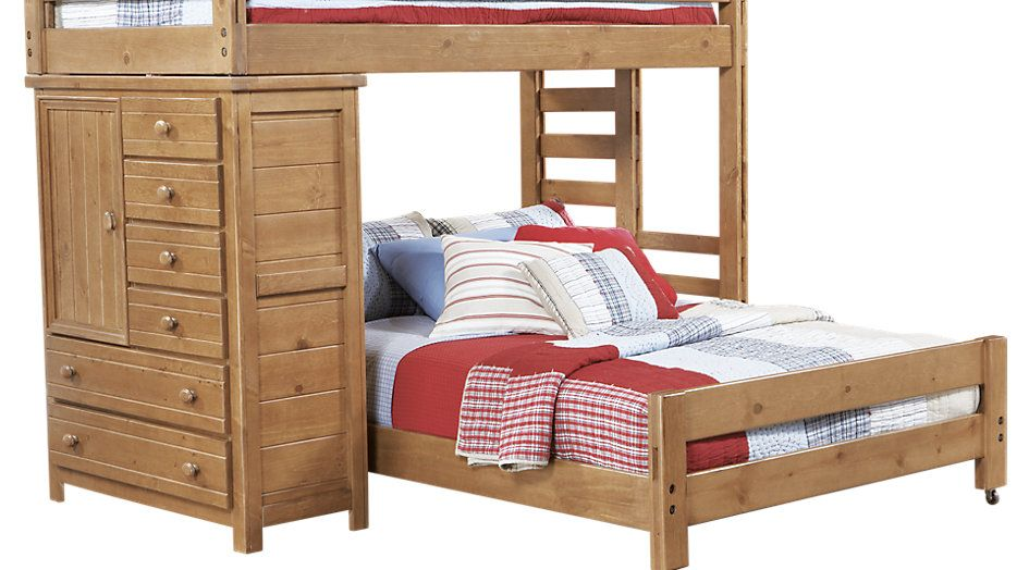 Creekside Taffy Twin Full Student Loft Bed With Chest From Furniture Bunk Beds Cool Bunk Beds Bunk Beds With Stairs