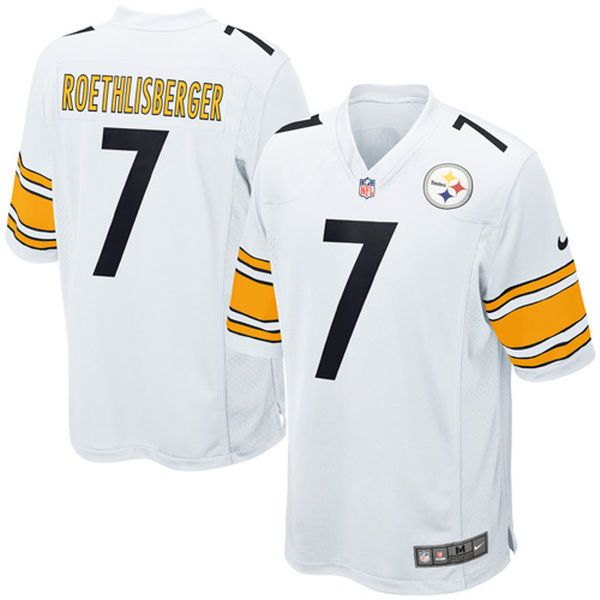 buy popular 8409c ca286 Mens Pittsburgh Steelers #7 Ben Roethlisberger Nike White ...