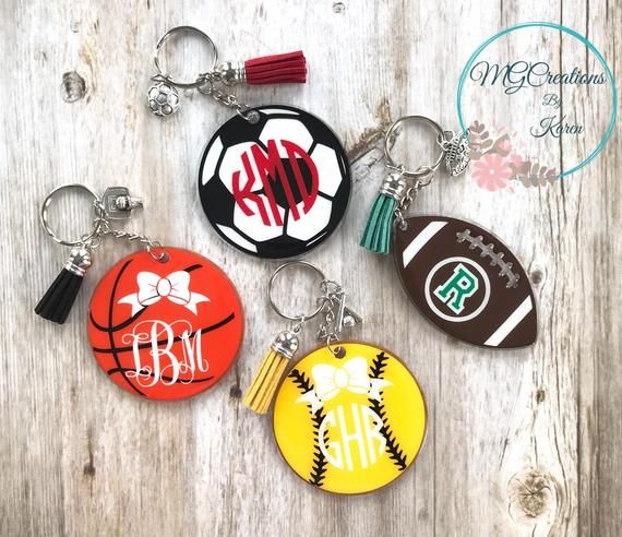 Personalized Sports Keychain Personalized Sports Gift Soccer Keychain Custom Basketball Keychain Keychain Personalized Sports Gifts Diy Keychain