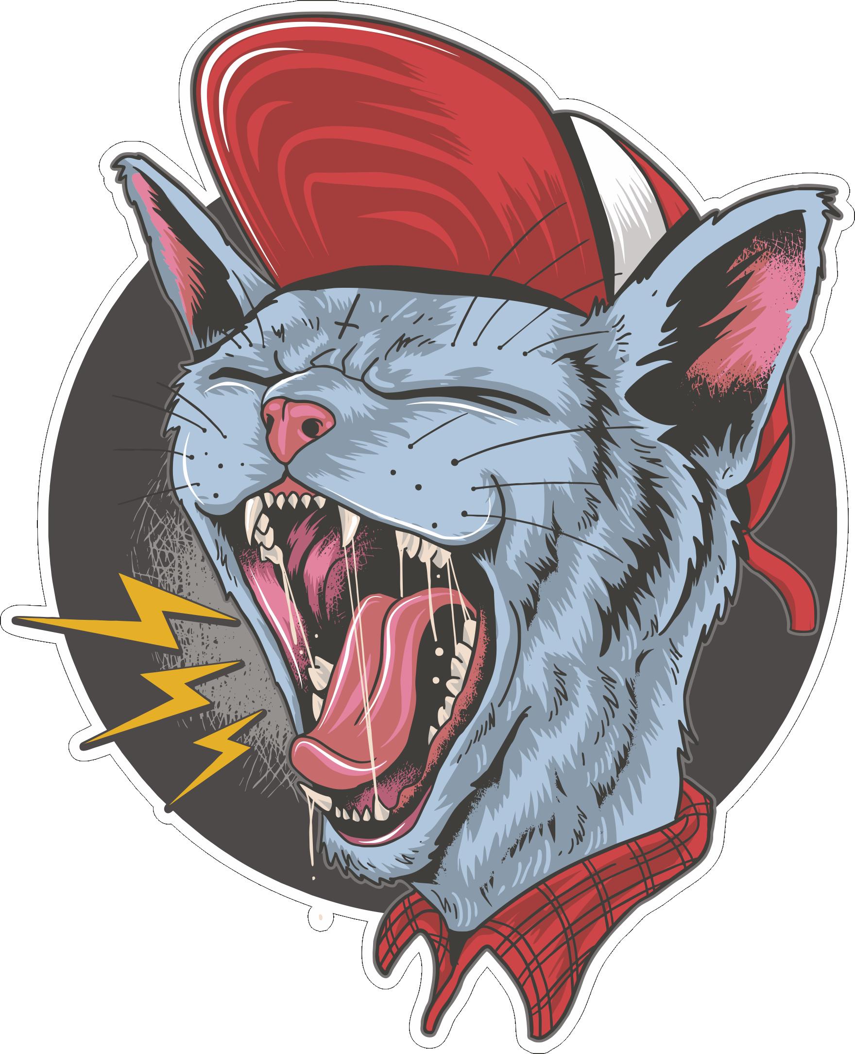 cdr eps stickerbombing стикербомбинг cat стикер