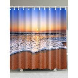 Twinkledeals With Images Beach Shower Curtains Beach Shower