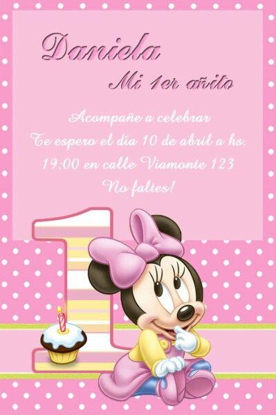 Guayaquil Tarjetas De Invitacion Minnie Invitación De