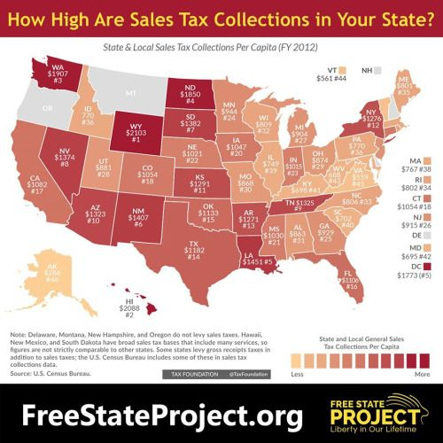 Freestateproject Did You Know That New Hampshire Already Has No - States with no income tax map