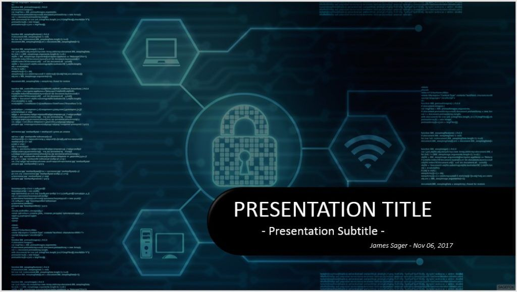Information Security Ppt Template Free Download Cyber