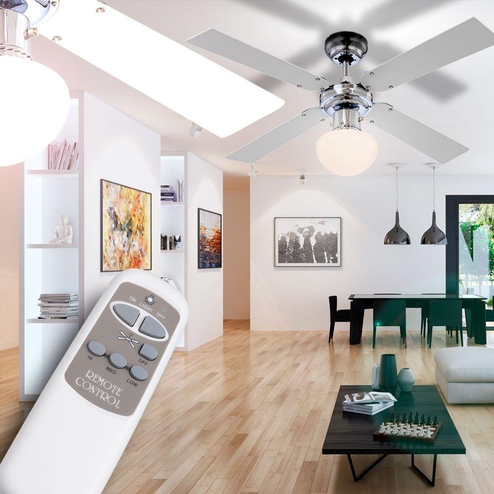 Best Decken Ventilator L fter Klima Ger t K hler Lampe Flur Zugschalter Fernbedienung