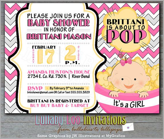 About to pop baby shower invitations girl product no 342 popcorn about to pop baby shower invitations girl product no 342 popcorn baby shower filmwisefo