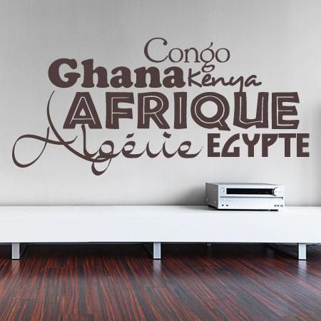 Stickers - Stickersmalin - Stickers afrique - 5€ - 40 x 18 cm