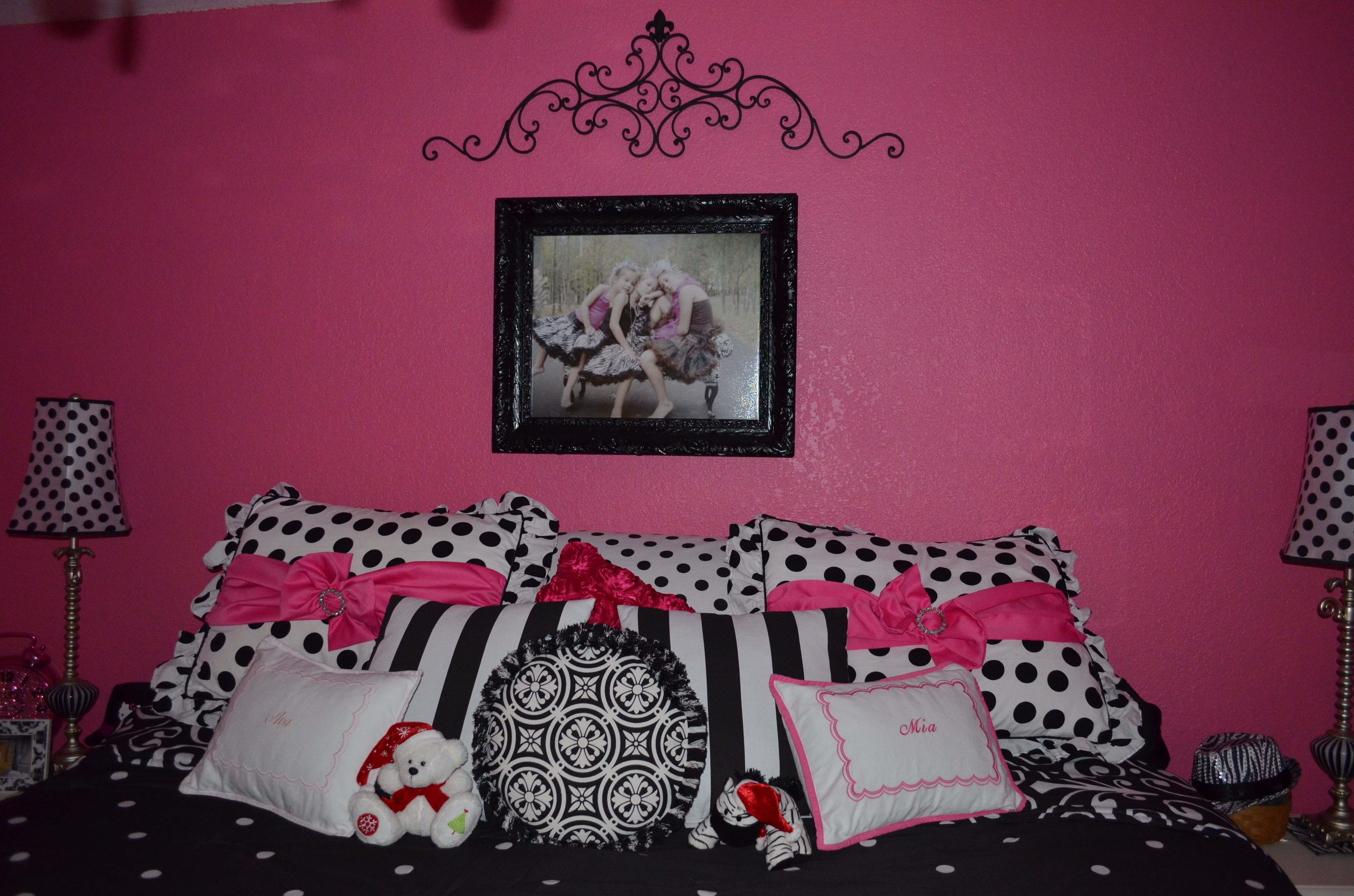 S Bedroom Ideas Hot Pink And Black Room White