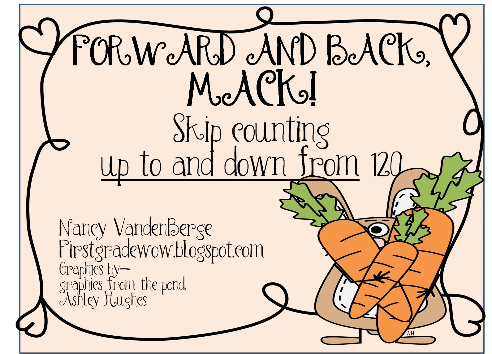 First Grade Wow Forward And Back Skip Counting To And