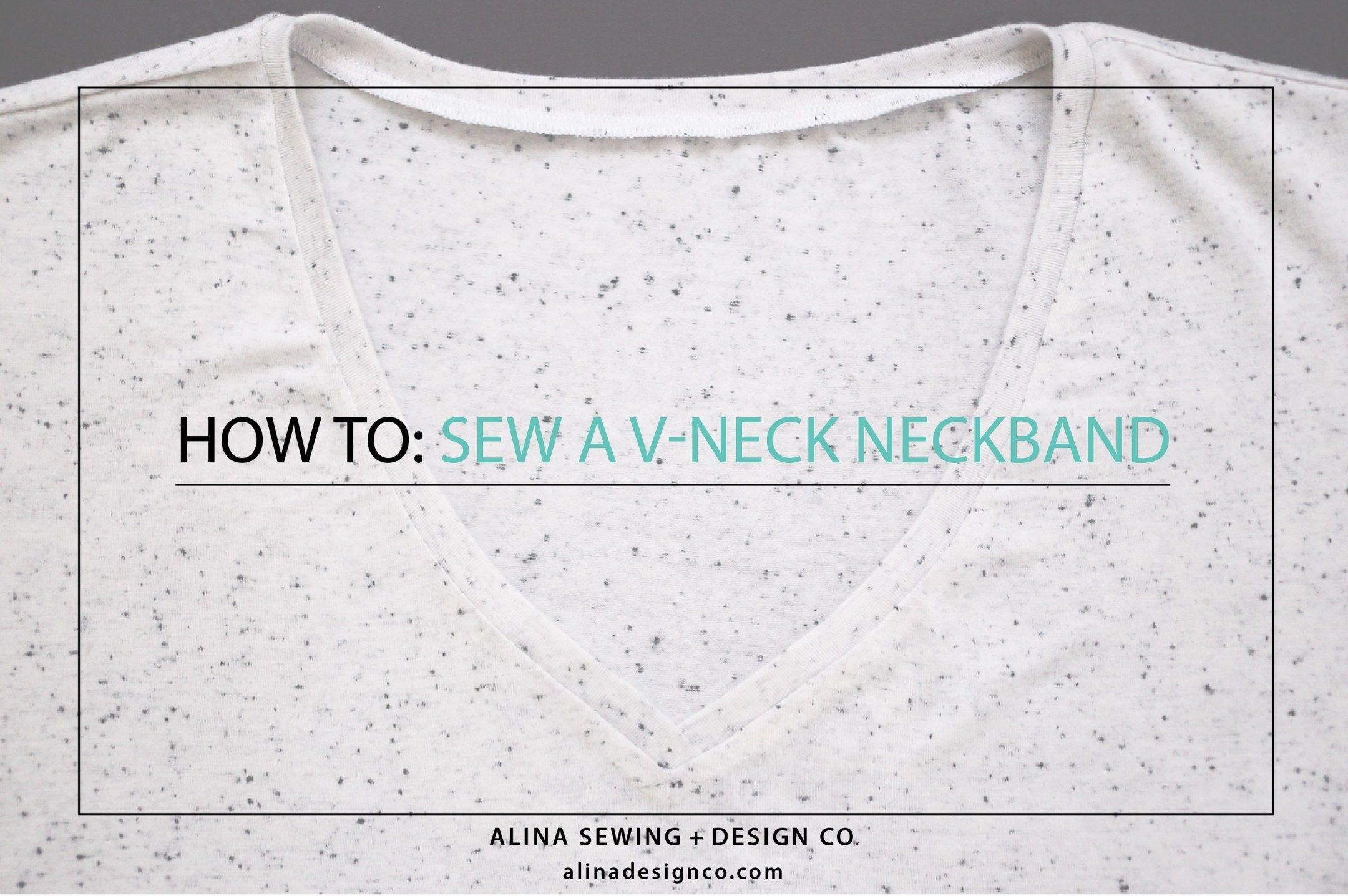 how-to-sew-a-v-neck-neckband | Cuellitos: Diy | Pinterest
