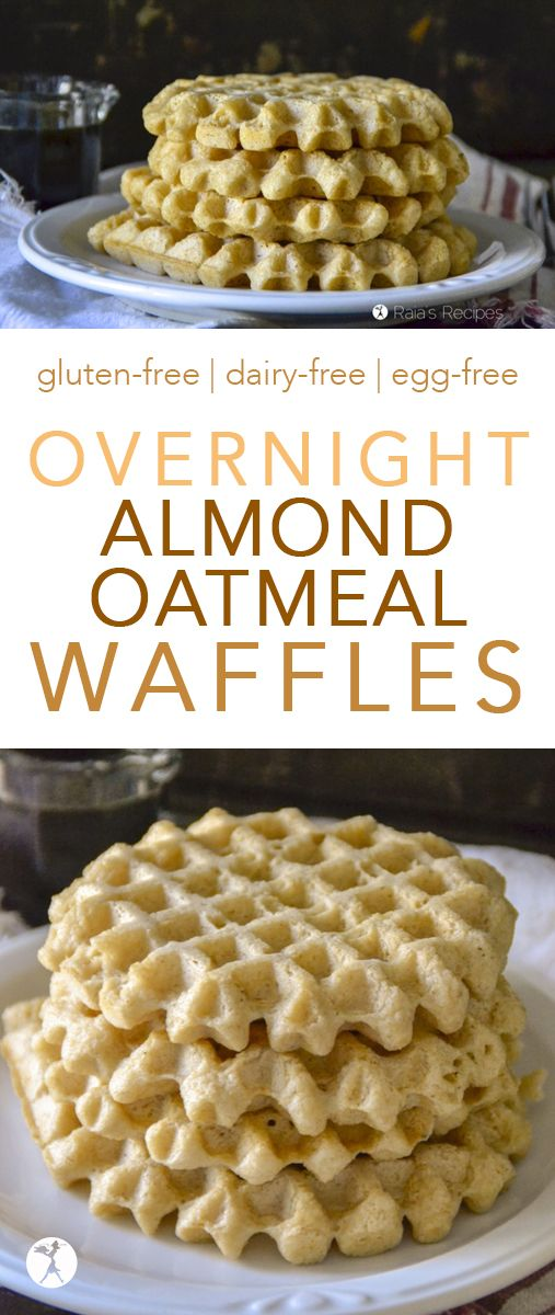 Easy and delicious, these Overnight Almond Oatmeal Waffles are a wonderful way to introduce you to the wonderful world of soaked grains! #waffles #glutenfree #realfood #vegan #dairyfree #eggfree #almond #oatmeal