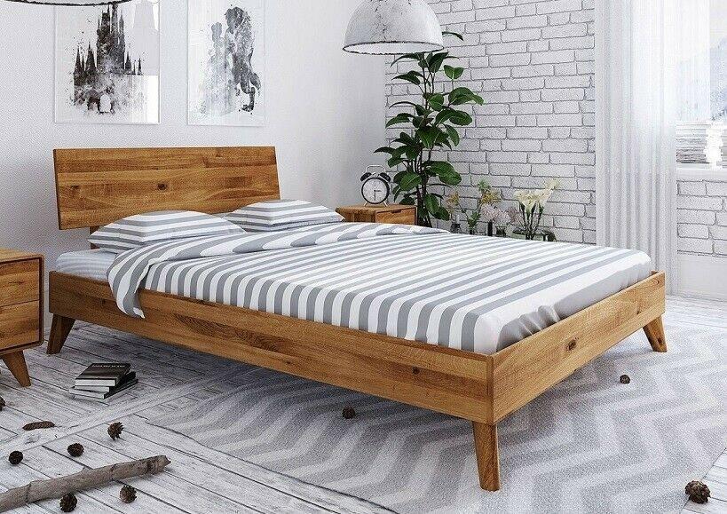 Doppelbett Bett Massivholz 160x200cm Wildeiche Eiche