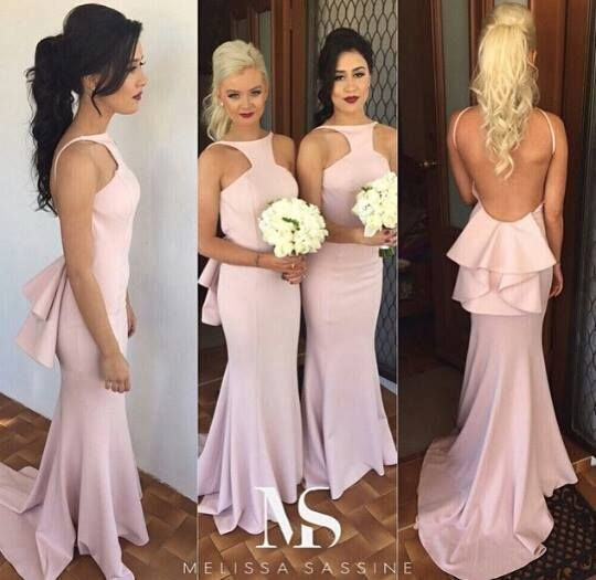 Aliexpress.com : Buy Pink Bridesmaid Dresses 2015 Fashionable Sleeveless Backless Summer Style Sweep Train Cheap robe demoiselle d'honneur from Reliable dresses made suppliers on Life&Peace Dress Store  | Alibaba Group