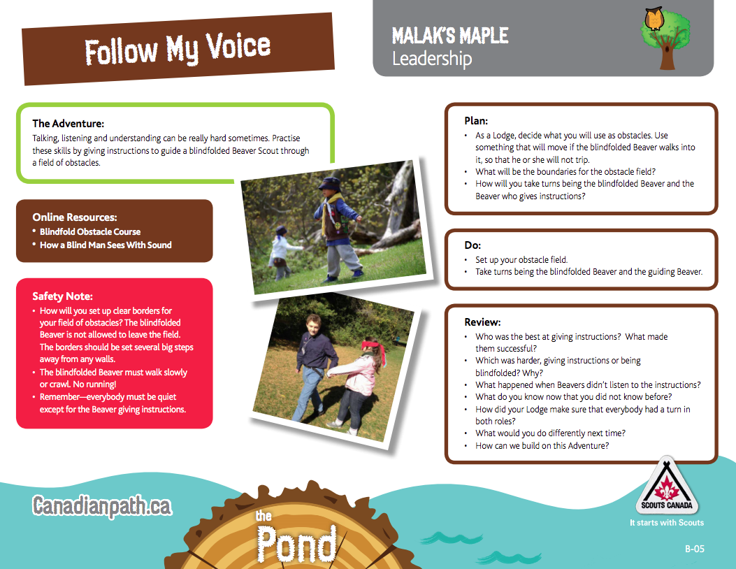 Malak S Maple Leadership Follow My Voice Trail Cards To Help Map Out How