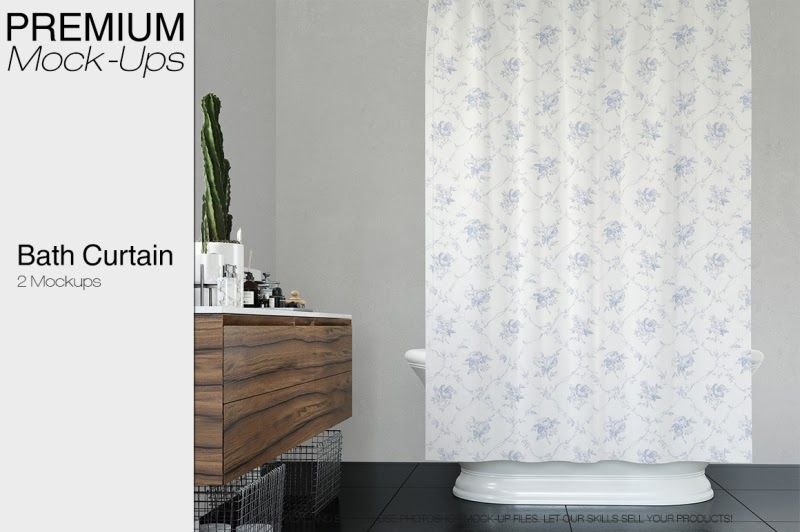 Download Bath Curtain Mockup Pack Psd Mockup Mockup Free Psd Free Logo Mockup Psd Psd Mockup Template