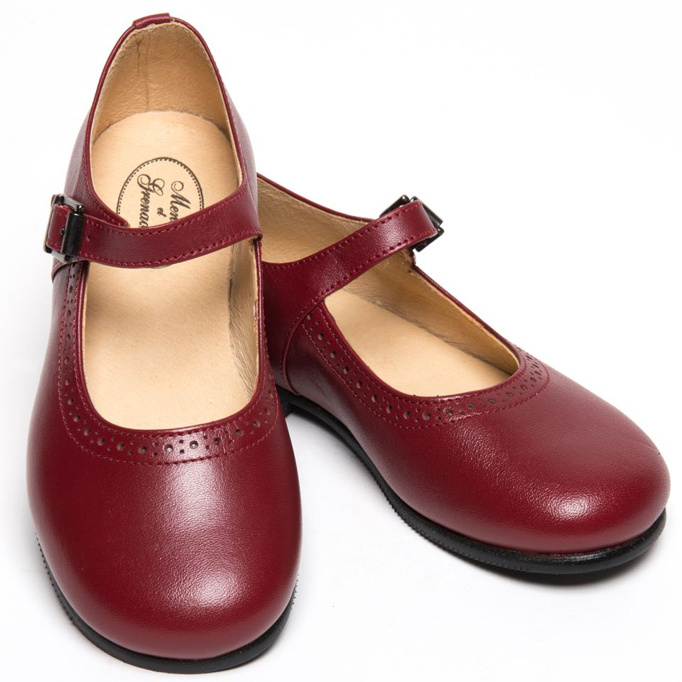 f466774beabd Classic red leather shoes for girls by Menthe et Grenadine So chic ...