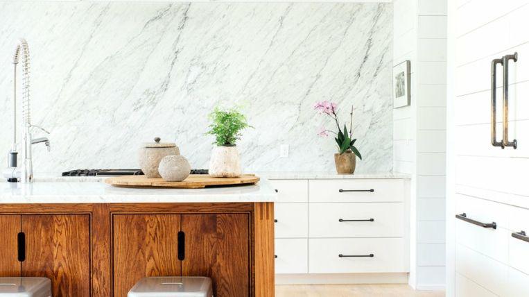 Panel de mármol Interiores para cocina Pinterest Panel