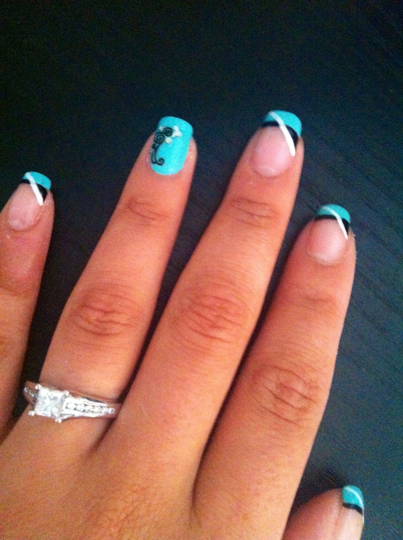Wedding inspiration! #turquoise #black #white ...