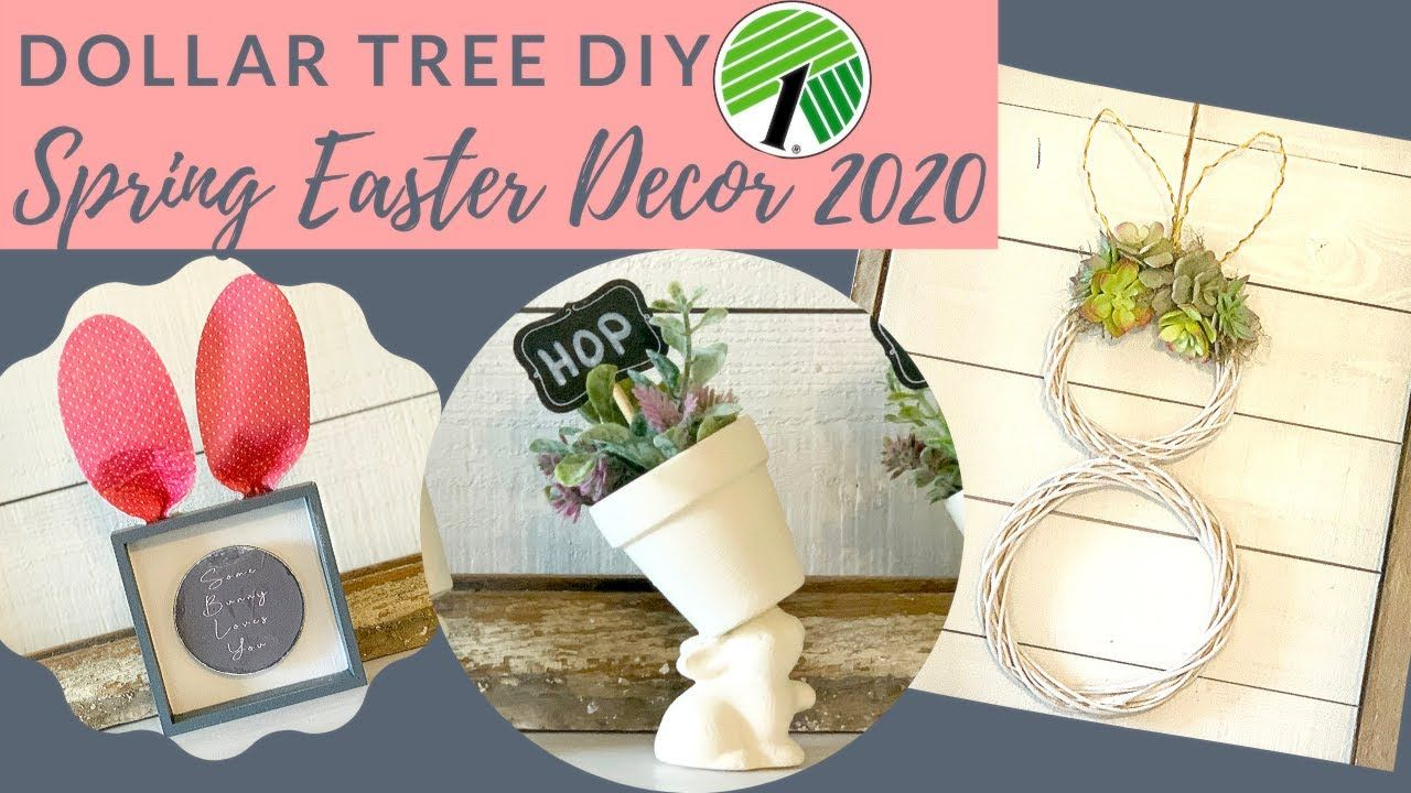 Dollar Tree Diy Spring Easter Decor 2020 Spring Diy Dollar Tree Diy Spring Easter Decor