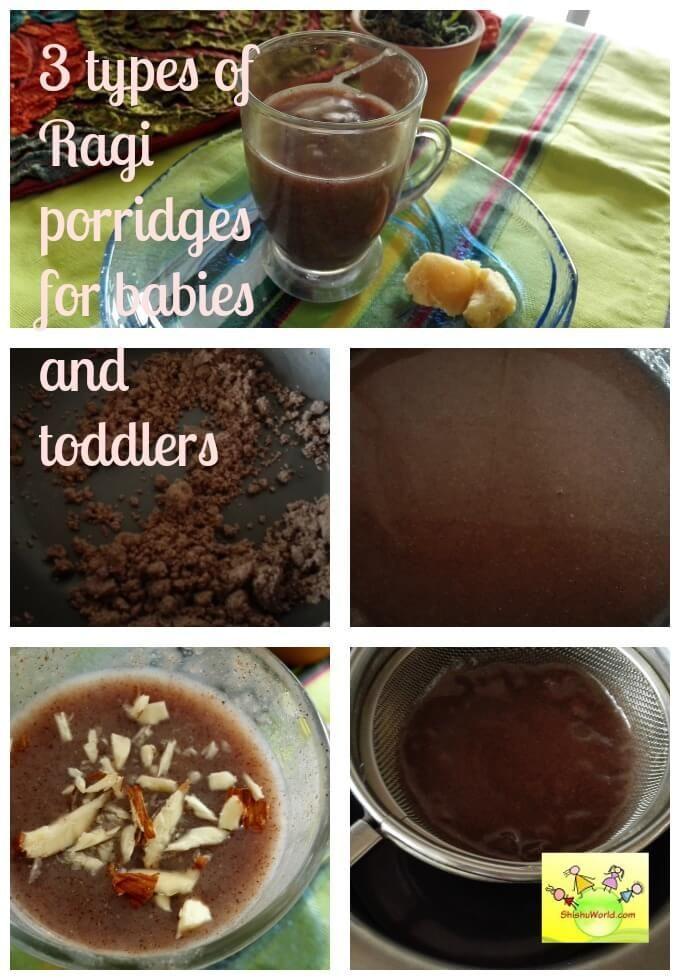 3 Recipes to make Nachni/ Ragi Porridge for babies ...