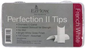 EZ Flow Perfect Ii Tips, French White, 100 Count by EzFlow