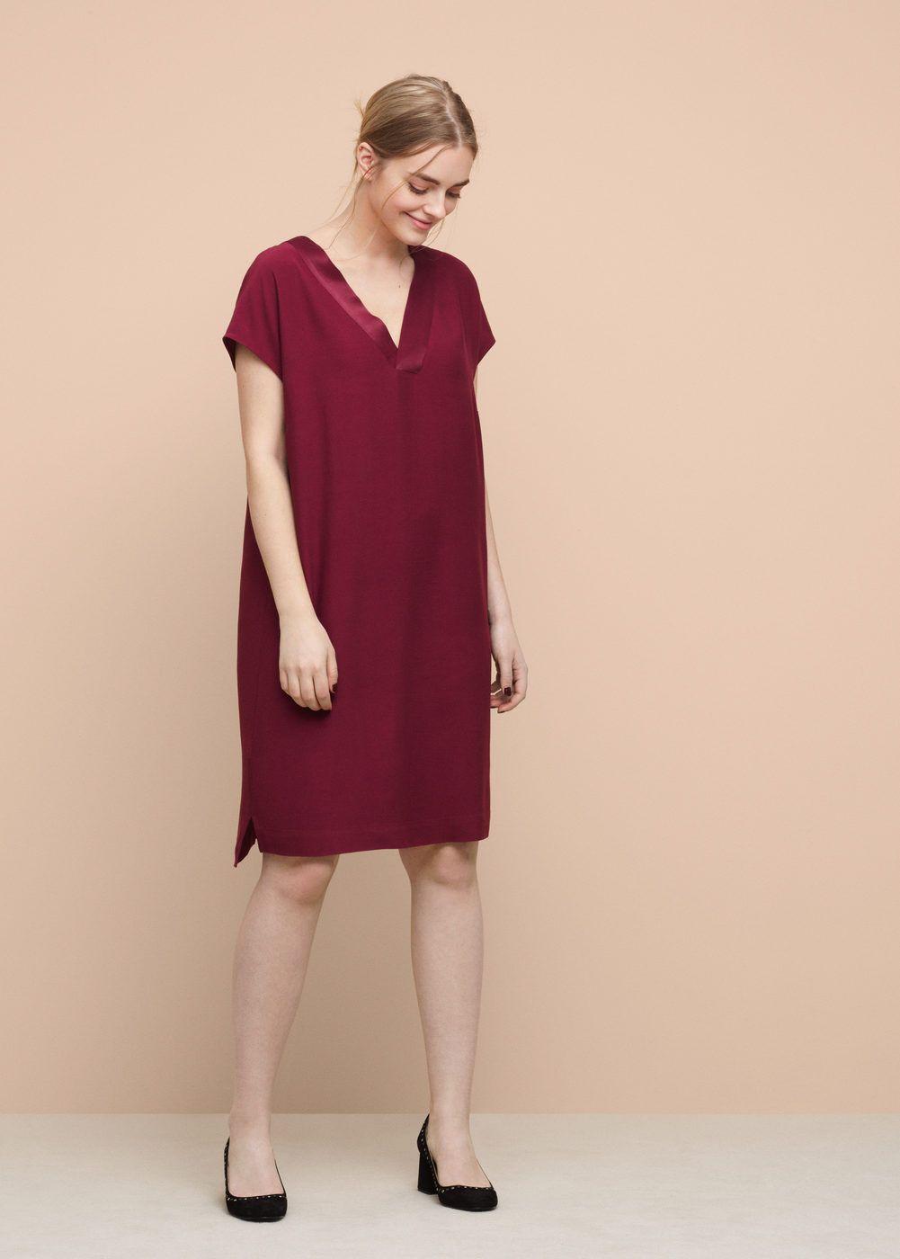 Vestido recto textura - Tallas grandes 7681902f1de