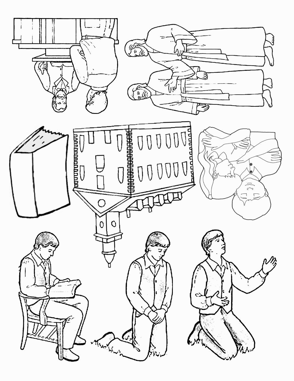 Joseph Smith First Vision Coloring Page Activity Days